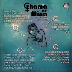 Post de redes sociais - Chama as Mina